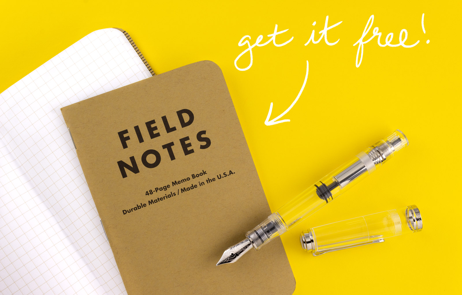 Free Field Notes with any purchase over $140!