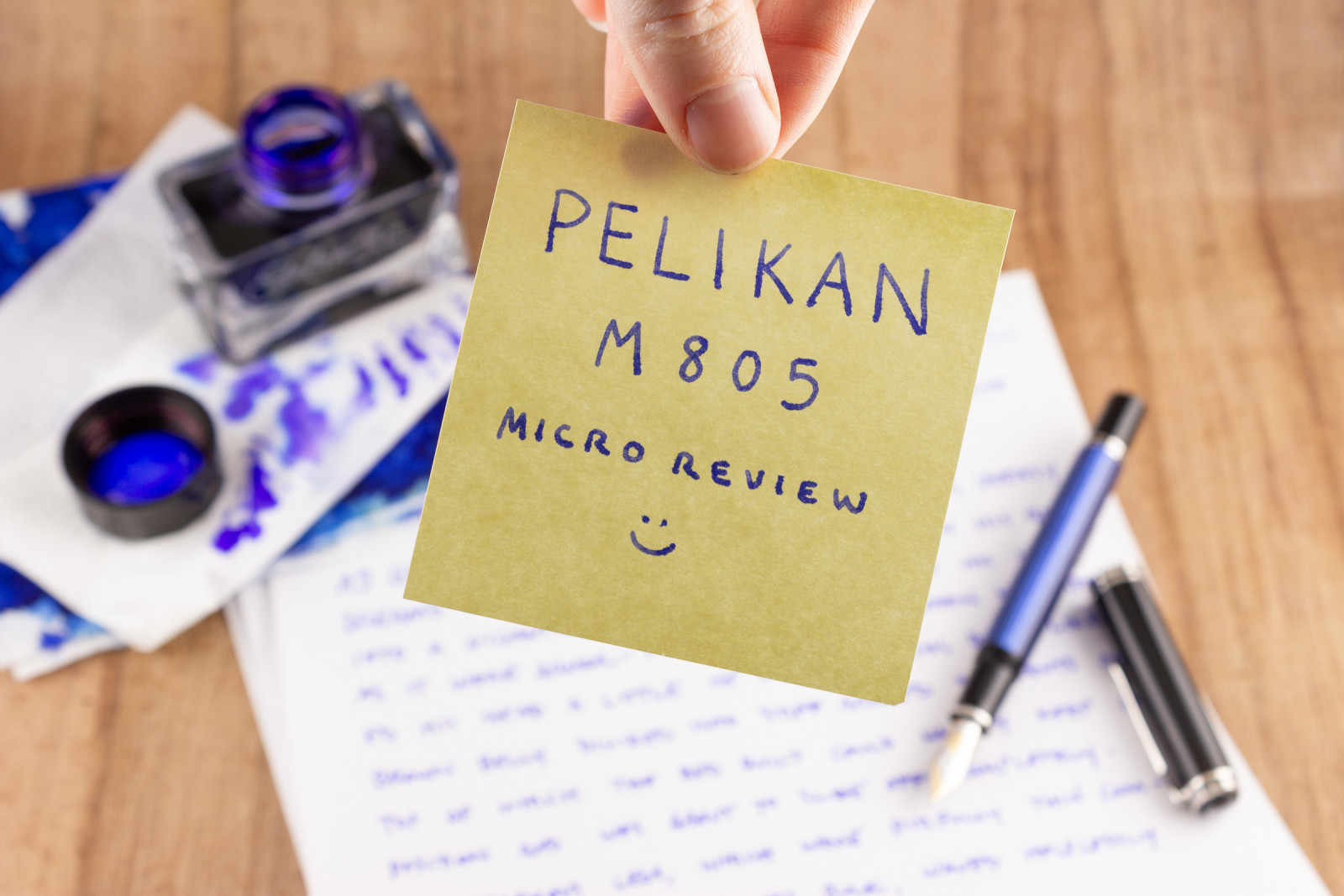Pelikan M805 Blue Stripe Microreview intro
