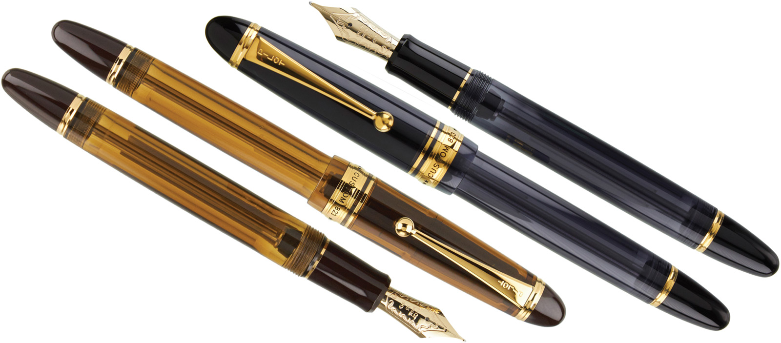 Pilot Custom 823 Fountain Pen in Smoke and Amber