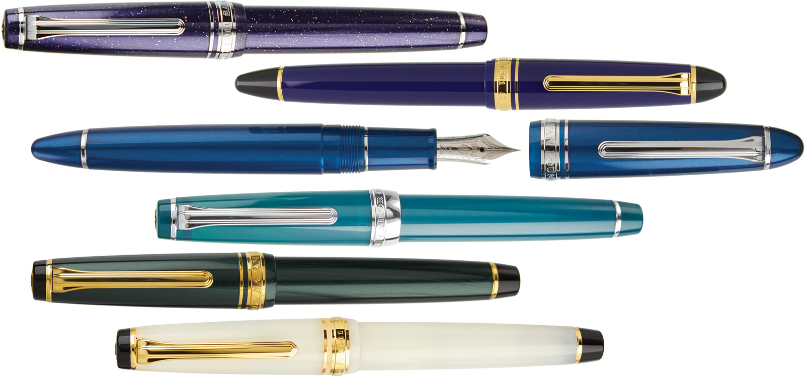 Sailor Pro Gear Slim and 1911 Mid-Size Fountain Pens